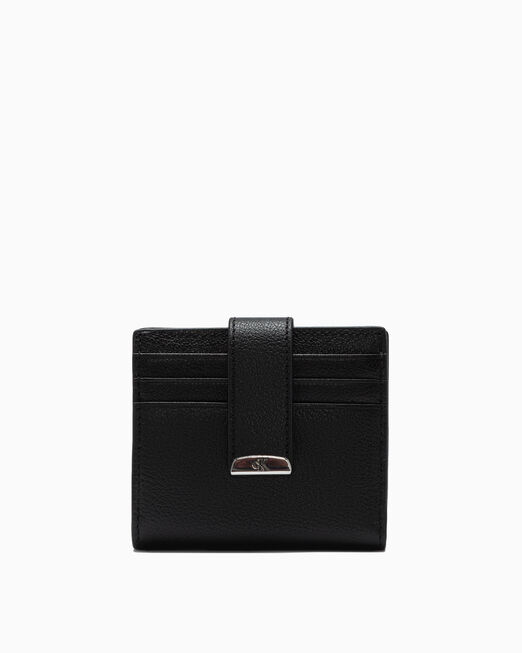 CALVIN KLEIN MICRO PEBBLE SQUARE BILLFOLD WALLET