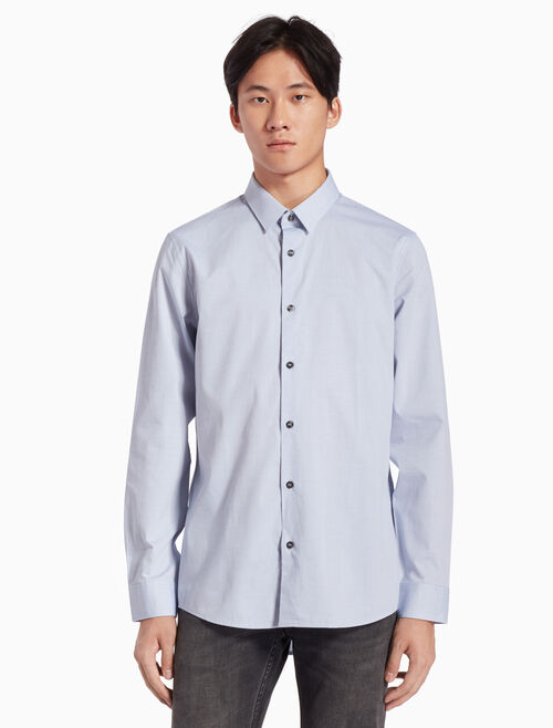CALVIN KLEIN MICRO-CHECKED DOBBY SHIRT