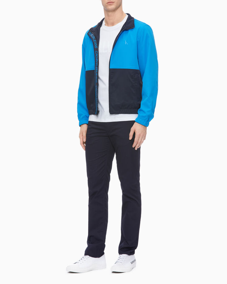CALVIN KLEIN 37.5 REVERSIBLE COLOR BLOCK HARRINGTON JACKET