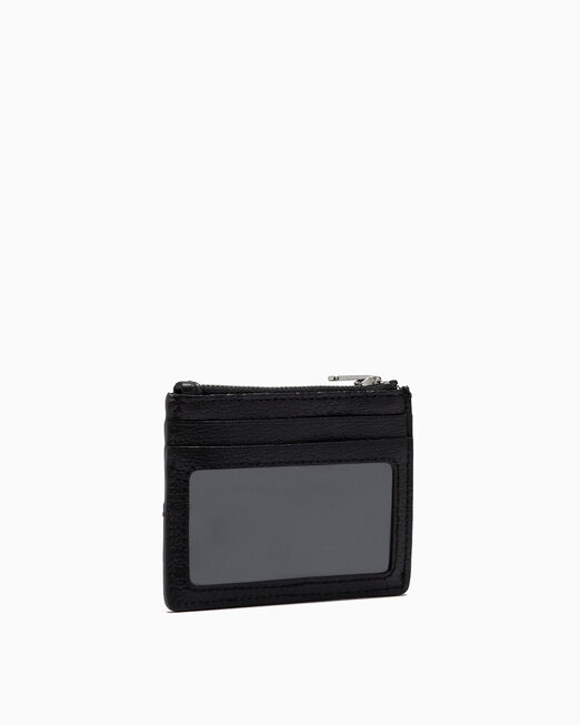 CALVIN KLEIN MONOGRAM TEXTURE CARD AND COIN CASE