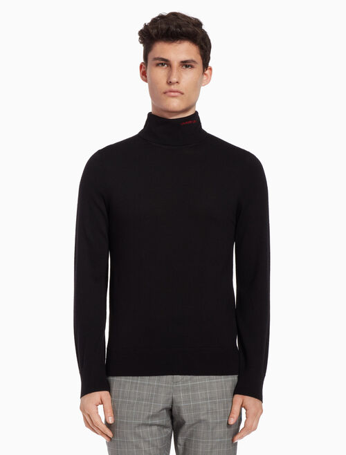 CALVIN KLEIN Wool logo sweater