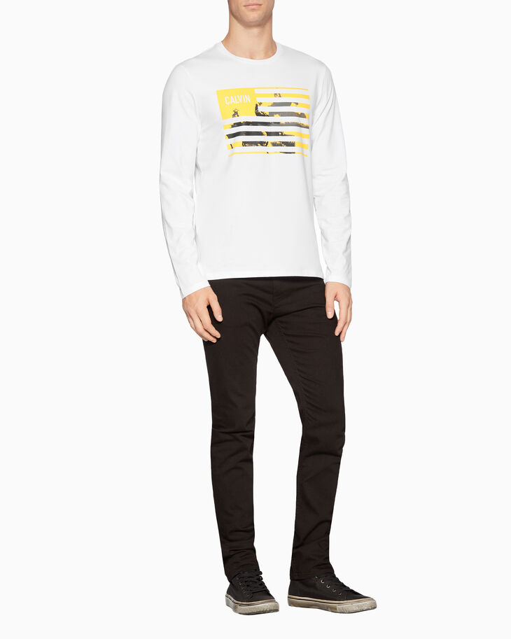 CALVIN KLEIN HOLLOW OUT LOGO PRINT TEE