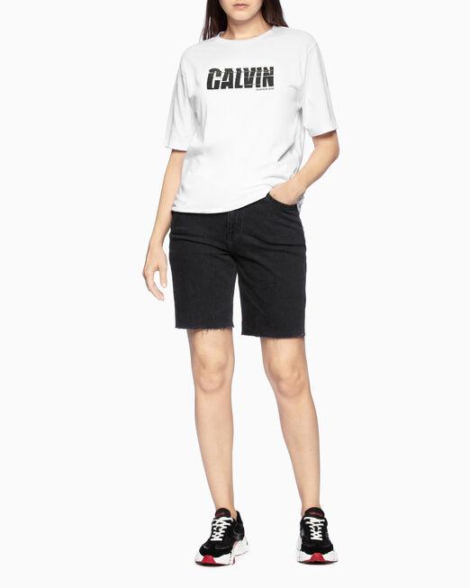CALVIN KLEIN 37.5 LOGO GRAPHIC 티셔츠