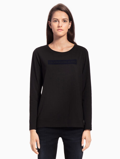 CALVIN KLEIN INSTUTION LOGO LONG SLEEVE TEE