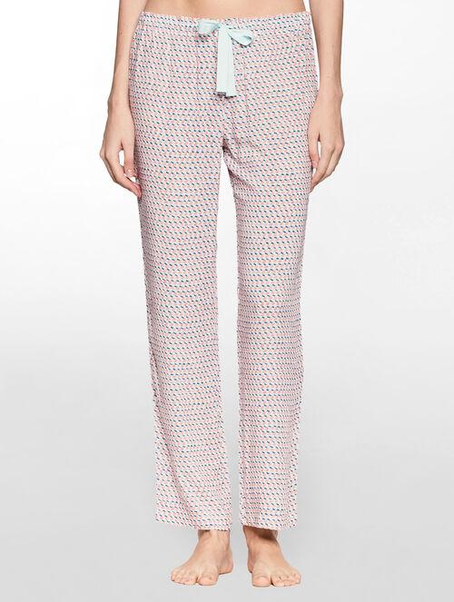 CALVIN KLEIN ウーブンビスコース パジャマ パンツ