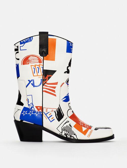 CALVIN KLEIN EST 1978 WADE 圖樣短靴