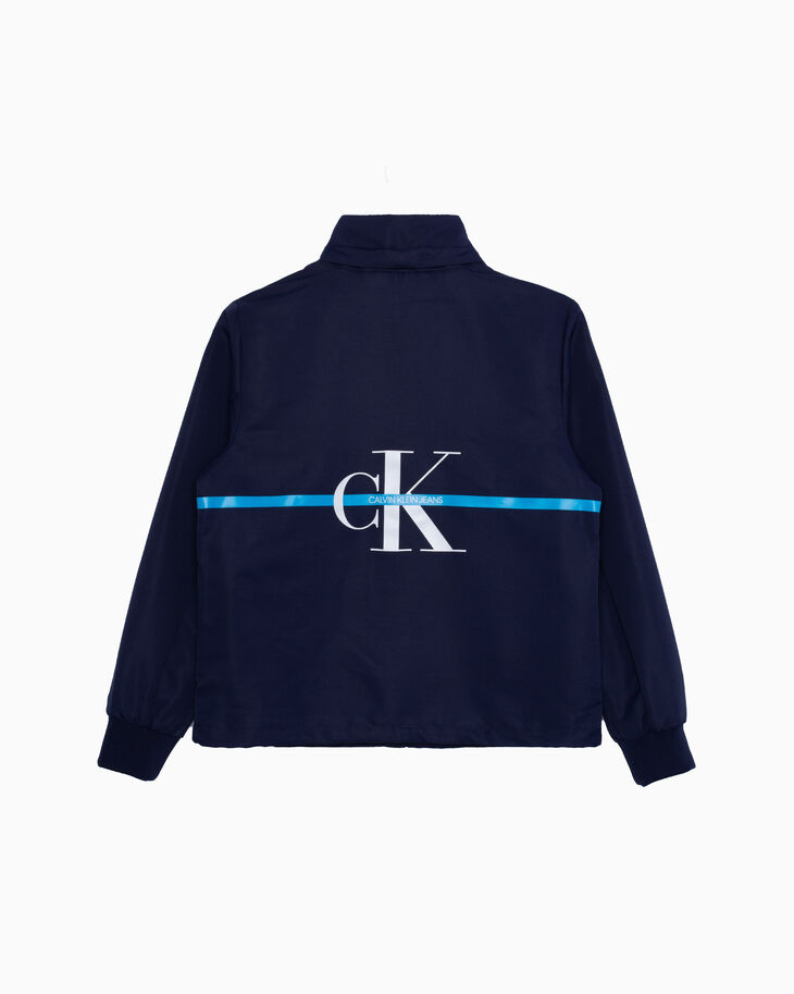 CALVIN KLEIN BOYS MONOGRAM STRIPE JACKET