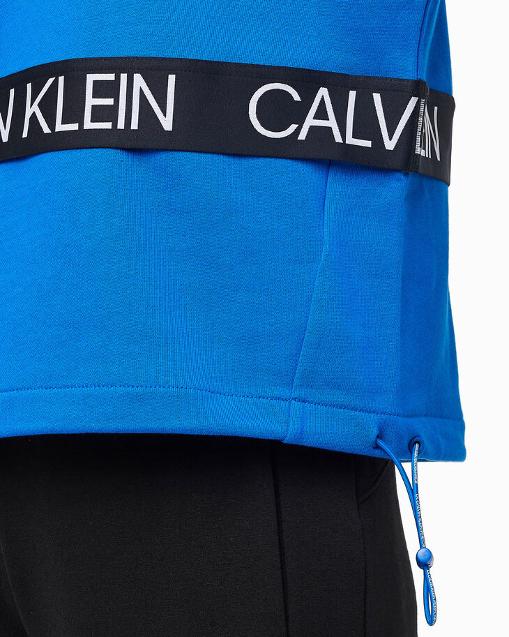 CALVIN KLEIN SUSTAINABLE ACTIVE ICON HALF ZIP PULLOVER SWEATSHIRT