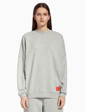 CALVIN KLEIN MONOGRAM TURTLENECK SWEATSHIRT
