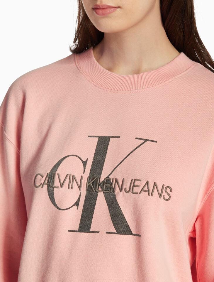 CALVIN KLEIN MONOGRAM WASHED SWEATSHIRT