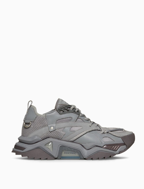 CALVIN KLEIN STRIKE 205 LACE-UP HEAVY TREAD ATHLETIC SNEAKER IN NAPPA LEATHER