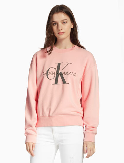 CALVIN KLEIN MONOGRAM WASHED SWEATSHIRT