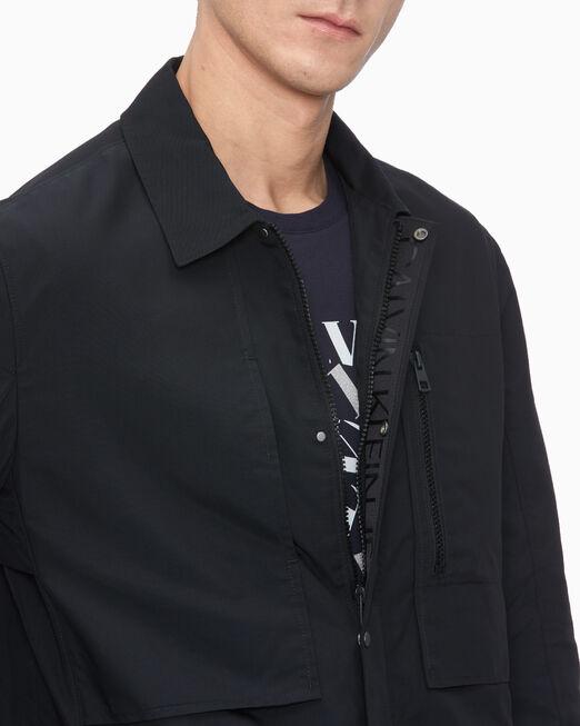 CALVIN KLEIN WOVEN NYLON COACH 재킷