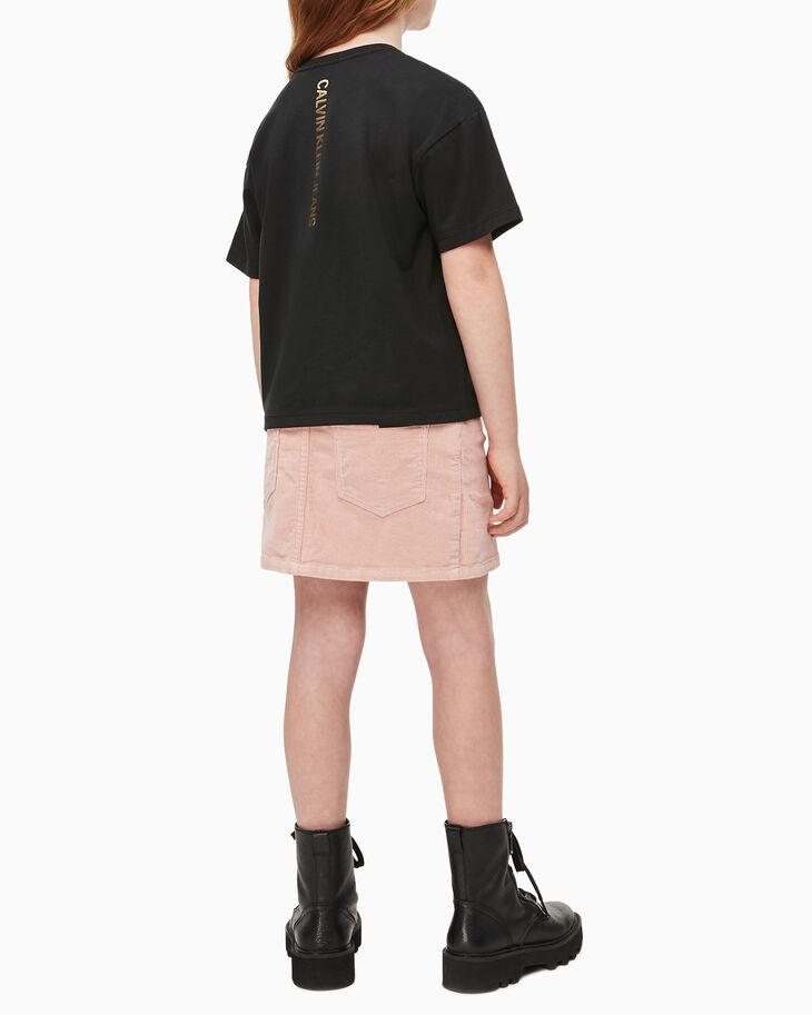 CALVIN KLEIN GIRLS FOIL LOGO BOXY TEE