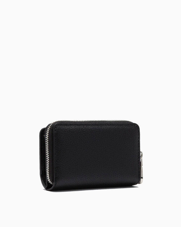 CALVIN KLEIN MICRO PEBBLE ZIP AROUND KEY AND CARD CASE