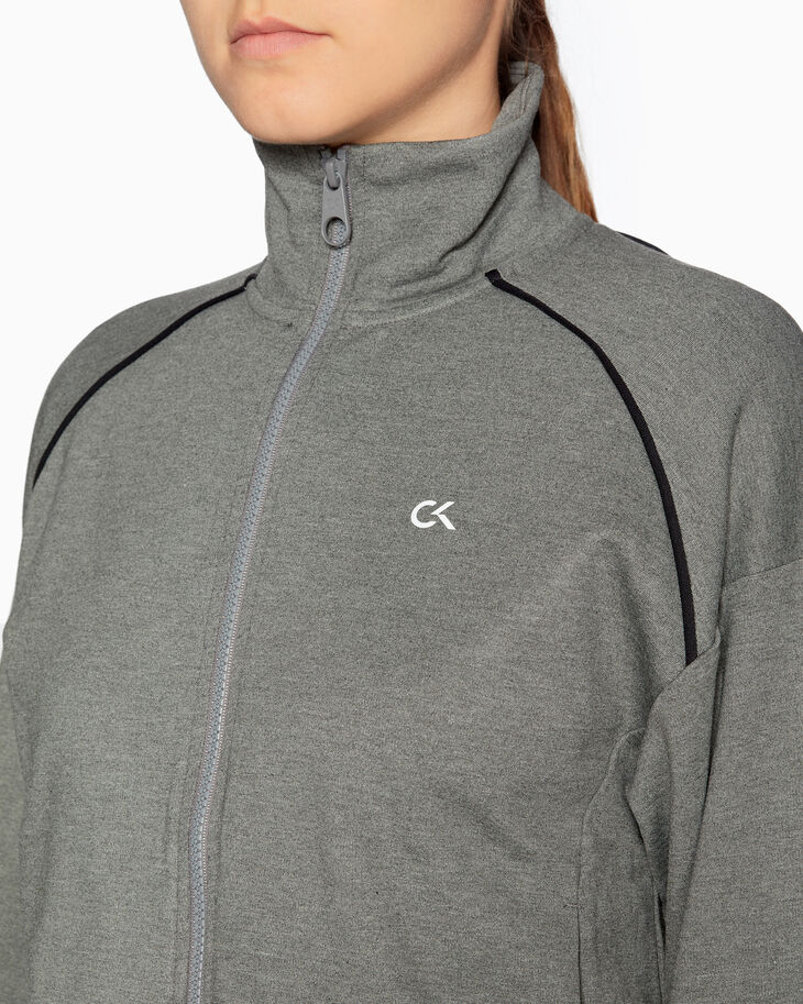 CALVIN KLEIN ACTIVE ICON ZIP UP HOODIE WITH LOGO BAND