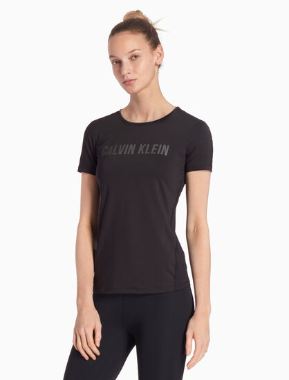 CALVIN KLEIN CK GRAPHIC ESSENTIALS 메시 백 티셔츠