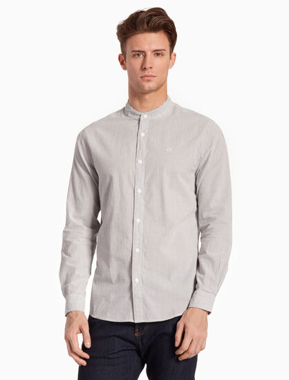 CALVIN KLEIN WOVEN STRIPED 셔츠