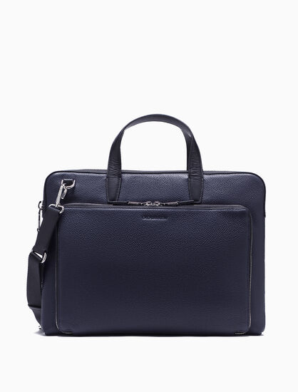 CALVIN KLEIN LEATHER PORTFOLIO BRIEFCASE