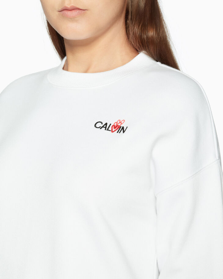 CALVIN KLEIN ANGULAR LOOP BACK CROPPED TEE