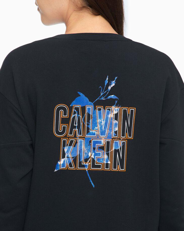 CALVIN KLEIN 37.5 FLOWER PRINT SWEATSHIRT