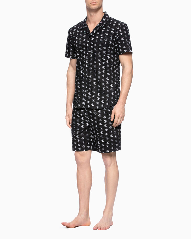 CALVIN KLEIN CK ONE WOVEN ALL-OVER LOGO SLEEP SHIRT