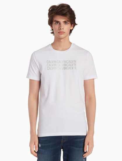 CALVIN KLEIN KNIT REPEATED LOGO TEE
