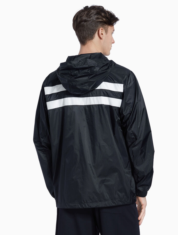 CALVIN KLEIN BACK STRIPE HOODED WINDBREAKER