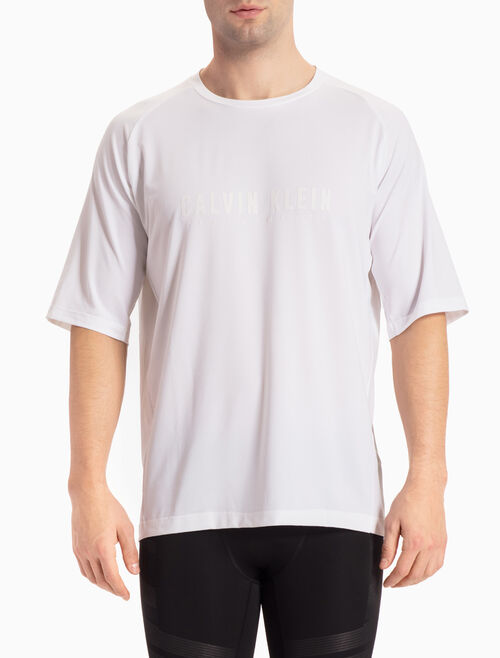 CALVIN KLEIN LOGO TEE WITH MID-LENGTH RAGLAN SLEEVES