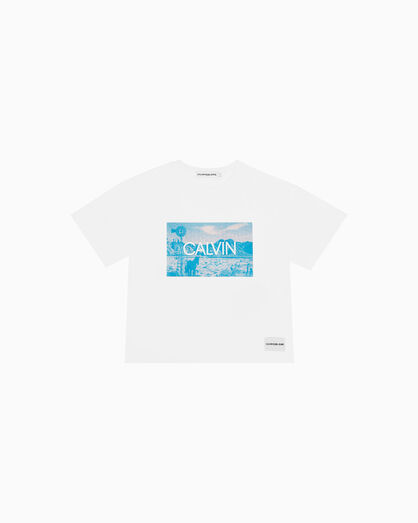 CALVIN KLEIN GIRLS PHOTO PRINT TEE