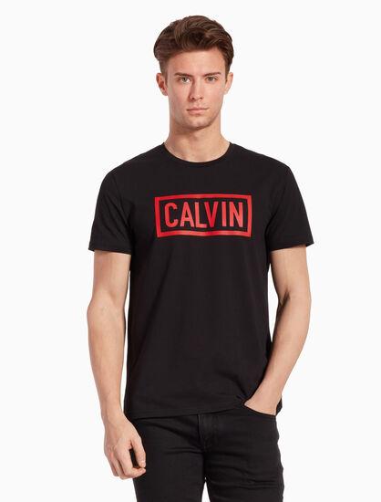 CALVIN KLEIN LOGO BOX 슬림 티셔츠