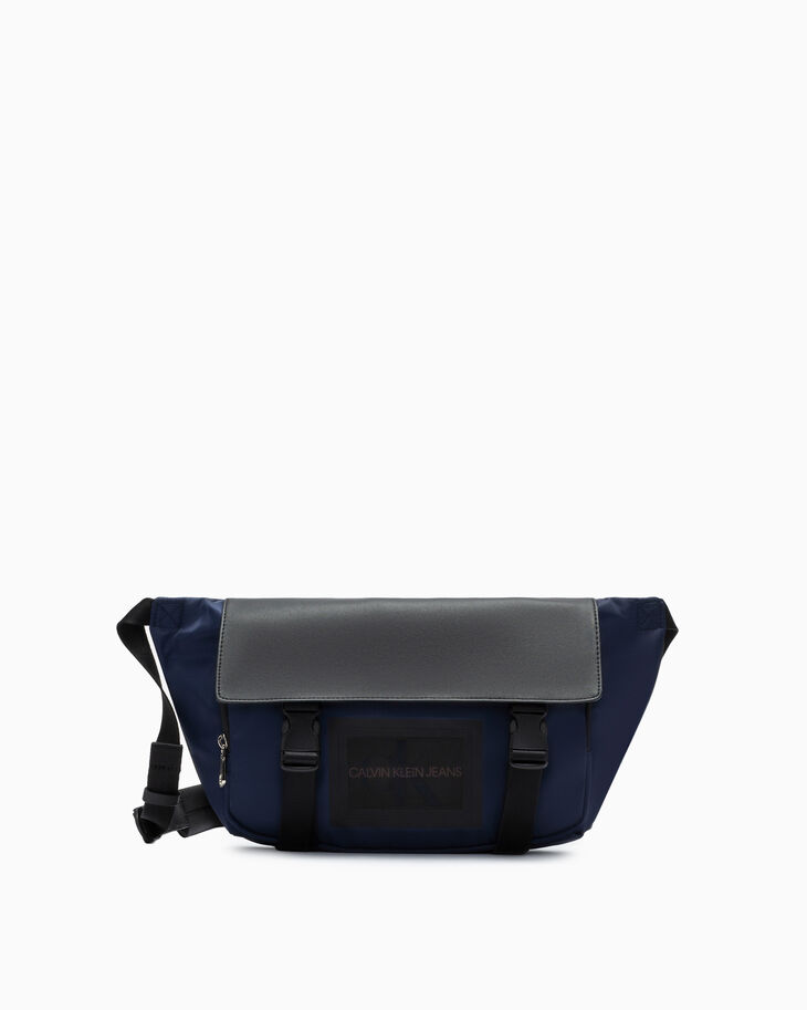 CALVIN KLEIN SLEEK NYLON MESSENGER SLING BAG