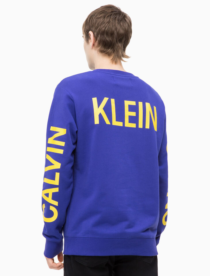 CALVIN KLEIN INSTITUTIONAL PULLOVER SWEATSHIRT