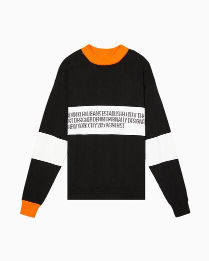 CALVIN KLEIN EST.1978 1978 ロゴ クルーネック セーター