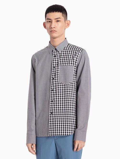 CALVIN KLEIN WOVEN PATCHWORK 셔츠