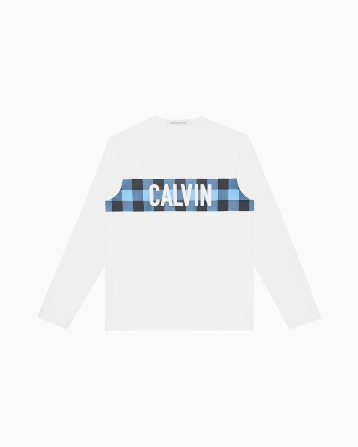 CALVIN KLEIN CALVIN 깅엄 프린트 티셔츠
