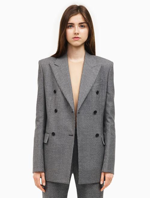 CALVIN KLEIN Double breasted wall street blazer