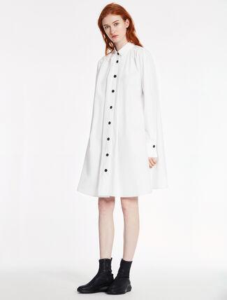 CALVIN KLEIN ソフトデンスポプリン ロングスリーブ ドレス