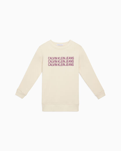 CALVIN KLEIN GIRLS TRIPLE LOGO SWEATSHIRT