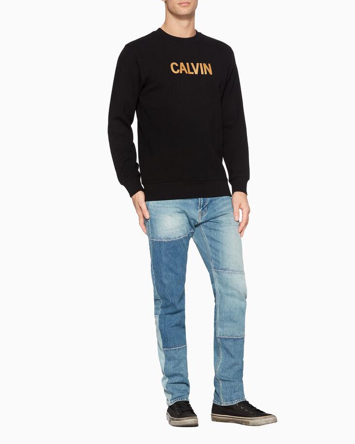 CALVIN KLEIN METALLIC LOGO 스웨트셔츠