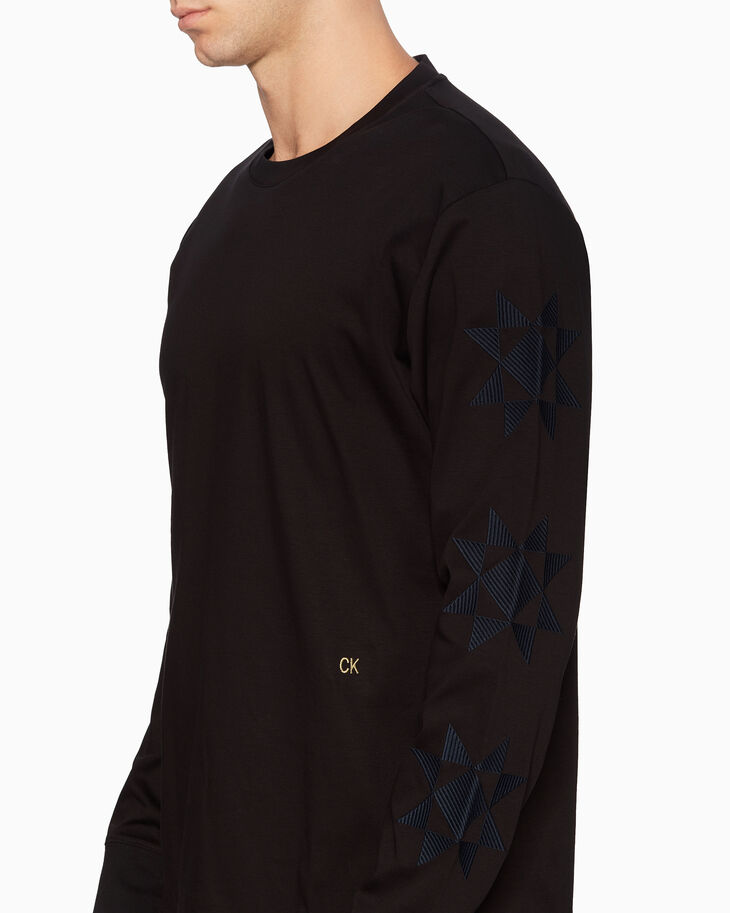 CALVIN KLEIN STAR QUILT LONG SLEEVE TEE