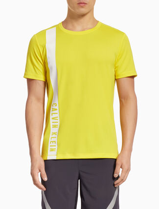 CALVIN KLEIN SHORT-SLEEVE TEE WITH SIDE LOGO STRIPE