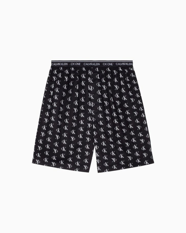 CALVIN KLEIN CK ONE WOVEN ALL-OVER PRINT SLEEP SHORTS