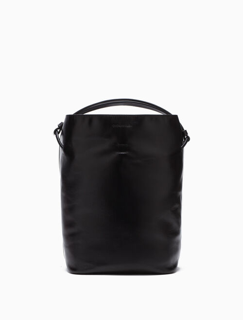 CALVIN KLEIN LEATHER BUCKET BAG