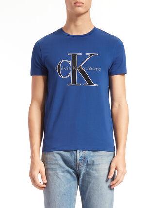 CALVIN KLEIN モノグラムロゴ スリムフィット T シャツ