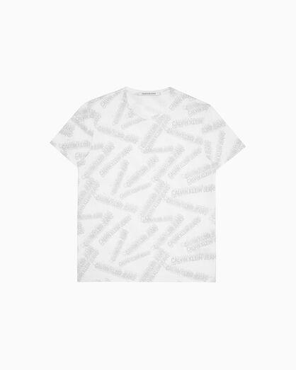 CALVIN KLEIN 로고 올오버 프린트 슬림 티셔츠