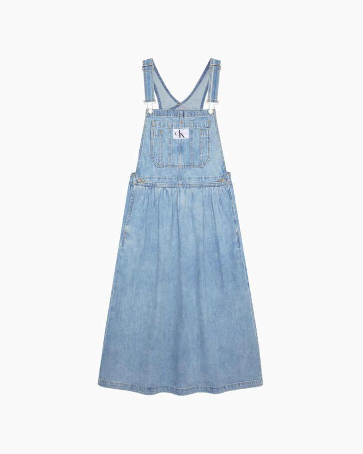 CALVIN KLEIN ARCHIVE ICONS DUNGAREE MAXI DRESS