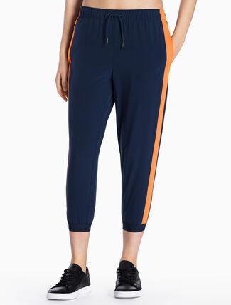 CALVIN KLEIN POP STRIPED SWEAT PANTS