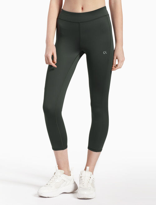 CALVIN KLEIN SIDE PANEL CROPPED LEGGINGS