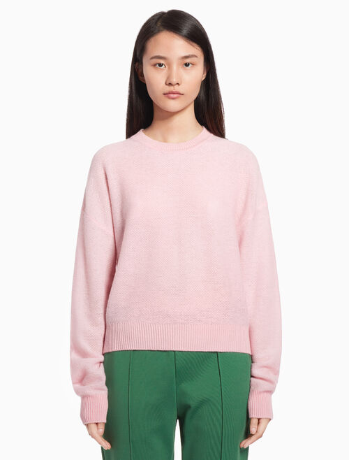 CALVIN KLEIN Patterned knit pullover sweater